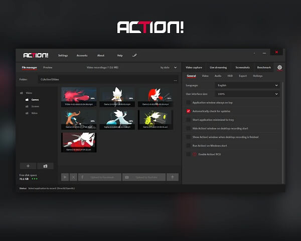 Action-best game recording software