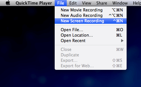 QuickTime Player-Screen Recording