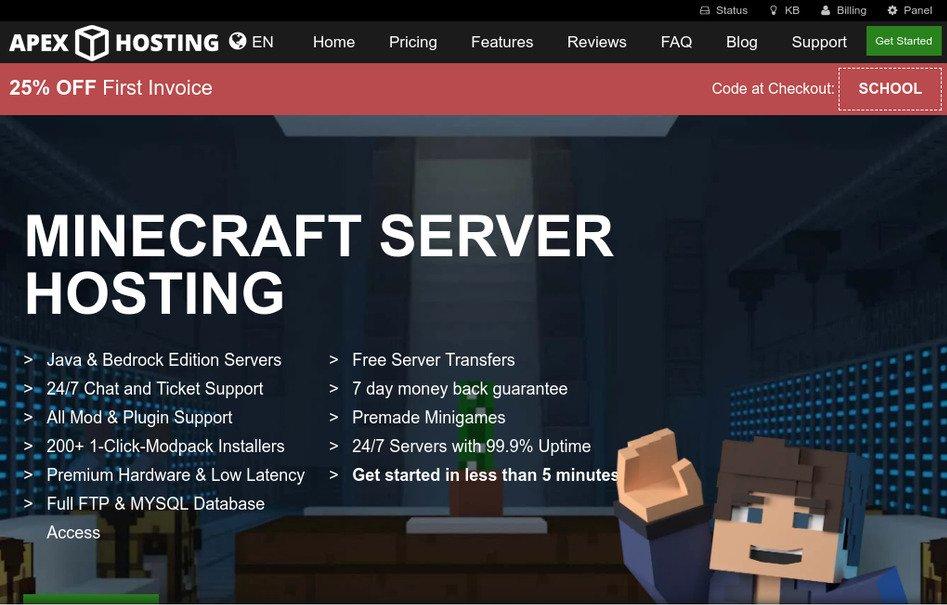 Best Minecraft Server Hosting? Apex Hosting Review in 2021